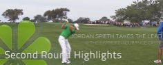 Jordan Spieth in the second round at Farmers Insurance Open