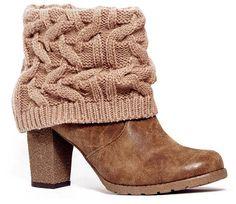 MUK LUKS Chris Women's Knit-Cuff Ankle Boots