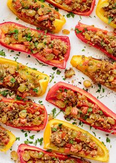 For this week's make-ahead dinner party menu from Ina Garten, we loved this colorful appetizer of stuffed peppers
