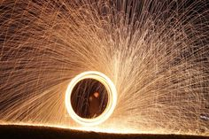 Here& a fun fire project. Make a spinning steel wool sparkler using simple household materials. Take a picture and get a breathtaking photo! Chemistry Projects, Science Fair Projects, Fun Projects, Chemistry Class, Science Activities For Kids, Cool Science Experiments, Science Ideas, Science Jokes, Easy Science