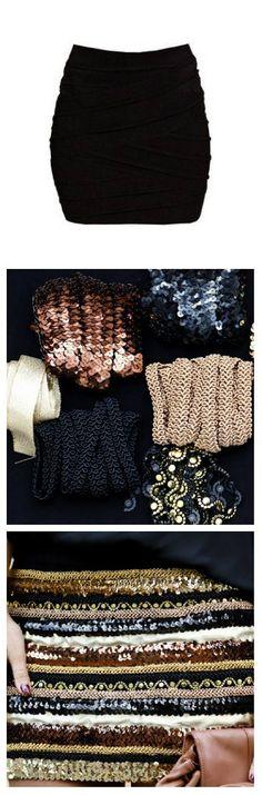 DIY falda de lentejuelas!
