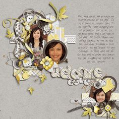 scrapbook idea from gallery at scrapbooks.com by NCI_neenee.  I like the use of smaller photos plus the room for journaling