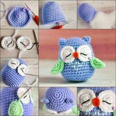 Materiales: lana gruesa color celeste, aproximadamente 100 gramos, un poquito de blanco, verde agua, rojo y negro, aguja de crochet nume...