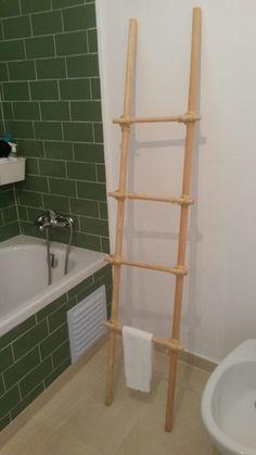 Wooden towel bars