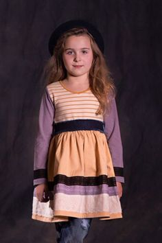 Jak and Peppar Stripe Dress Golden Vanilla (Size Tween Fashion, Girl Fashion, Girls Boutique Dresses, Fabulous Dresses, Stripe Dress, Striped Fabrics, Fall 2015, Vanilla, Tie Dye