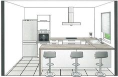 Is this kitchen project feasible? – Messages N ° 15 to N ° 30 Kitchen Room Design, Kitchen Cabinet Design, Modern Kitchen Design, Interior Design Kitchen, Modern Kitchen Cabinets, Kitchen Flooring, Küchen Design, House Design, Country Style Bathrooms