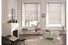Cortina Twinline™, además de cubrir tus ventanas, permite disfrutar del paisaje exterior, manteniendo la intimidad de los espacios, y entregando un excelente control del ingreso de luz.