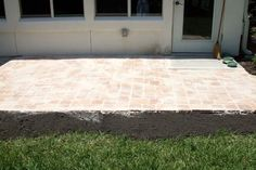 How to make a patio with paving stones