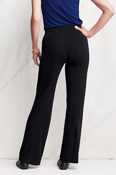 Women's Matte Jersey Wide Leg Pants from Lands' End petite medium looked great on me at the store
