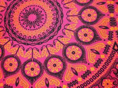 Pink Psychedelic - Original South African ShweShwe Designer Fabric - 100 %…