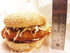 The Ninja Deluxe burger at Katsu Burger, Seattle.  Kinako shake on the side!