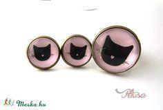 Macskás fülbevaló gyűrű szett cicás, Ékszer, óra, Gyűrű, Fülbevaló, Ékszerkészítés, Meska Gemstone Rings, Gemstones, Jewelry, Jewlery, Bijoux, Schmuck, Jewerly, Gems, Jewels