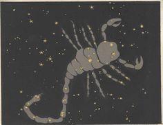 1892 Antique Astronomy Print Centaur Lupus Crux Musca Borealis Constellations Stars Space Universe Horoscope Beauty of the Heavens