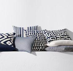 Kerry Joyce Dayo Pillow Cover - Indigo/White