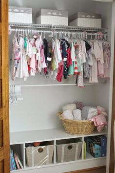 Caroline's NurseryLove the closet cubby