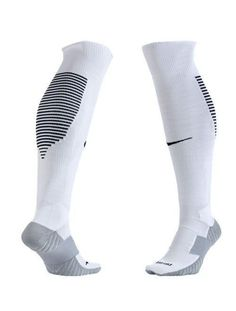 29f52993ff2d Nike Mens Performance Cushioned OTC Soccer Socks SZ 6-8   8-12 White Black  Gray  Nike  Athletic