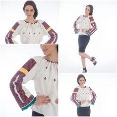 Vintage<3 #romanianblouse #ievintage #romanianlabel Unique Vintage, Blouses, Traditional, Tops, Women, Fashion, Moda, Fashion Styles, Blouse