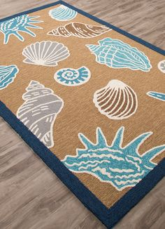 Coastal Lagoon Inlet - Ermine & Winter White Indoor-Outdoor Rug