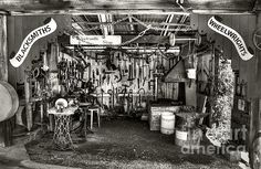 #BLACKSMITH #SHOP #MONOCHROME by #Kaye #Menner #Photography Quality Prints and Cards at: http://kaye-menner.artistwebsites.com/featured/blacksmith-shop-monochrome-by-kaye-menner-kaye-menner.html