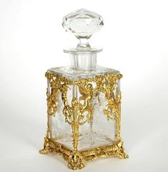 Baccarat Crystal Perfume Bottle 19c