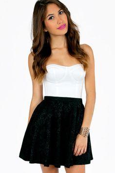 #Tobi                     #Skirt                    #Elisa #Embossed #Skater #Skirt                     Elisa Embossed Skater Skirt $35                                               http://www.seapai.com/product.aspx?PID=1221994