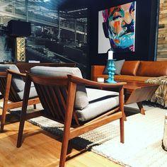 The @fourstudiofurn @hpmkt looking fantastic. #art #highpoint #nc #hpmkt #chair #painting