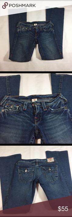 True Religion Jeans 27 True Religion Jeans Size 27 wide legs True Religion Jeans Flare & Wide Leg
