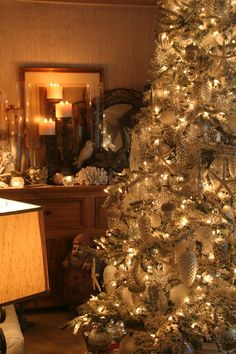 Our Christmas tree and sideboard 2011