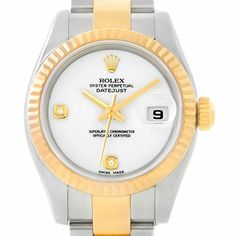 Women's Certified Pre-Owned Watches - Rolex Datejust automaticselfwind womens Watch 179173 Certified Preowned * You can find more details by visiting the image link. (This is an Amazon affiliate link)
