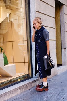 Might need to move to Milan when I get older if this is what it entails - Manuela Pavesi by The Sartorialist