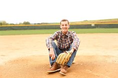 boy baseball senior pictures