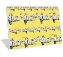 'Dawn Chorus' in yellow surface pattern design by Elaine Collins Designs (c) 2015.  products available at redbubble.com