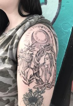 Zodiac tattoos are becoming very popular and the Gemini tattoos are among the most common. Check our collection of some creative Gemini tattoos. Arm Sleeve Tattoos, Tattoos Skull, Baby Tattoos, Dope Tattoos, Sleeve Tattoos For Women, Star Tattoos, Unique Tattoos, Arm Tattoo, Body Art Tattoos