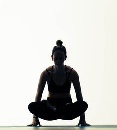 Yoga. Lotus Pose. Black and white Yoga.