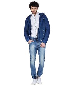 Skie Studio Blue Full Sleeve Denim Jacket
