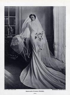 Marcelle Landovska (Wedding Dress) 1940 Christiane Roussel