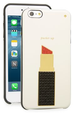 kate spade new york 'pucker up' iPhone 6 Plus & 6s Plus case