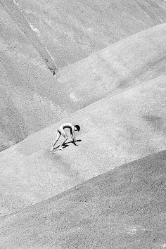 A nude man climbs a desert dune in Jim Mangan's Notum. More images here: http://www.dazeddigital.com/photography/article/19410/1/the-wanderlust-of-jim-mangan