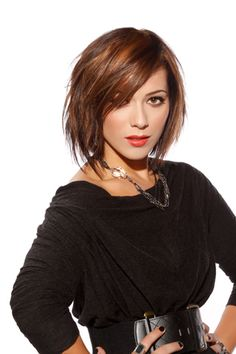 short brown hair.  Maybe piecy and layered like this? I just love this for some reason!