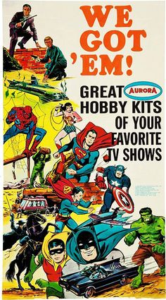 Aurora TV Show Hobby Kits