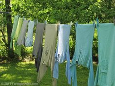 Color coordinated laundry line :)