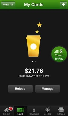 If you're a Starbucks addict, use the app to pay for your coffee and you can get free rewards.