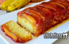 Portuguese Banana Caramelized Cake Recipe - This incredibly delicious and moist Portuguese banana caramelized cake (bolo de banana caramelizado) will leave you craving for more. Source by Portuguese Desserts, Portuguese Recipes, Portuguese Food, Sweet Recipes, Cake Recipes, Banana Recipes, Mets, Just Desserts, Baking Desserts