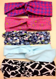 Cute twisted headbands - A Little Craft in Your Day #DIY #teencraft