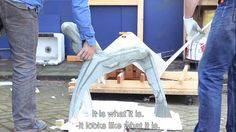 Atelier Remy&Veenhuizen: concrete chair  Trying to create outdoor furniture while giving it the looks of something domestic and comfortable, Remy&Veenhuizen experimented with pouring concrete and foam into flexible, textile moulds. This research led into the Soft Moulding technique which was used for several pieces of furniture.