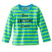 Showcase his confidence with bright stripes and this self-assured slogan.
