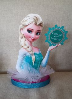 Personalized Frozen Centerpiece Elsa by LuDecor on Etsy, $22.00