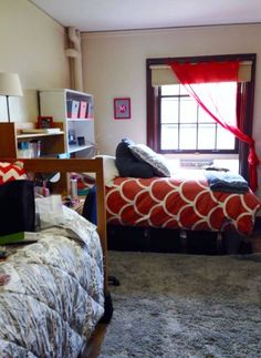 Residence Hall At Miami University Swing 2014 End Of Move In Day The Bookshelf Headboard Is One Made