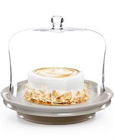 Martha Stewart Collection Low Footed Cake Plate, Only at Macy's - Serveware - Dining & Entertaining - Macy's Cake Plate With Dome, Cake Stand With Dome, Cake Dome, Cake And Cupcake Stand, Cake Stands, Buy Cake, Classic Cake, Cake Plates, Let Them Eat Cake