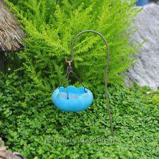 Miniature Fairy Garden Blue Birdbath